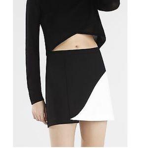 Bcbg black and white colorblock mini skirt